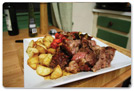 Leg of Lamb Roast and Vegetables